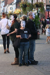Anonymous for the Voiceless (Hidden Horsham) Tags: the silent guy fawkes mask wearing group were horsham again with another protest anonymous for voiceless