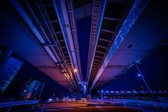 Under the Bridge (hidesax) Tags: underthebridge rainbowbridge loopbridge night nightscape shibaura tokyo japan hidesax sony a7ii