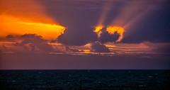Seascape (Peter Leigh50) Tags: clouds sea seascape sun rays fujifilm fuji xt2