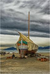a rainy and windy day ... (miriam ulivi) Tags: miriamulivi nikond3200 italia liguria sestrilevante spiaggiadelbalin leudo baiadellefavole boat cielo sky nuvole clouds