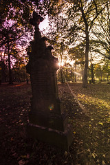 Cemetery 04 (Ian Robinson Pictures) Tags: filters sunset cemetery graveyard middlesbrough linthorpe