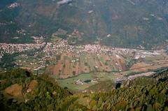 60970020 (sarahhusein) Tags: from above aerial paragliding 35mm film analog italy ponte caffaro village