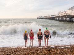 Ladies of Brighton Swimming Club (lomokev) Tags: file:name=181105omdem5050006 brighton swim swimming swimmers sport olympusomdem5 olympus omd em5 olympusomd pier brightonpier palacepier swimmingcostume brightonswimmingclub wildswimming