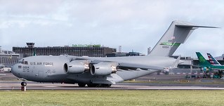 Boeing C-17 Globemaster III United States Air Force 60004 Lining up at Dublin International Airport 21-9-18 (3 of 1)