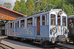 MOB BCFe 4/4 railcar no 11 (TrainsandTravel) Tags: switzerland schweiz suisse narrowgauge voieetroite schmalspurbahn electrictrains trainsélectriques elektrischezüge blonaychamby mob montreuxoberlandbernois bcfe44