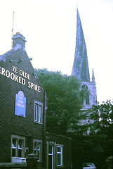 Slide 124-31 (Steve Guess) Tags: chesterfield church spire derbyshire england gb uk pub yeold
