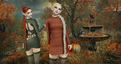 Witches (kynne L.) Tags: irrisistible shop fantasy fountain halloween autumn mesh decor pumpkins magic sl secondlife second life