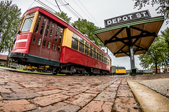 All Aboard at Depot Street! (dscharen) Tags: irm illinois illinoisrailwaymuseum trains union trolley streetcar cta chicagotransitauthority csl chicagosurfacelines brill jgbrill