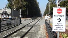BurlingameStation22SEP18 02 (By Air, Land and Sea) Tags: train rail railway railroad station depot suburban commuter california caltrain burlingame sanfrancisco pcs peninsulacommuteservice