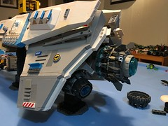 LEGO - SHIPtember 2018 - WIP - coming down to the wire. There's just not enough hours in the day 😜 (k9iug) Tags: legohomeworld homeworld legospace lego shiptember2018 shiptember