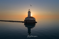 Final Countown (Nenad Spasojevic) Tags: 2018 fc6310 pov aerial birds blue colors dji djiphotography drone dronephotography droning exploration explore exploring finalcountdown flying fromabove goldenhour lake lakemichigan light lighthouse mirror morning naturallihght nature nenad nenadspasojevic nenadspasojevicart orange perspective phanthom phanthom4pro reflection spasojevic summer sun sunrise chicago illinois il usa