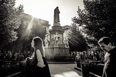 Piazza della Scala (-dow-) Tags: milano piazzadellascala milan leonardodavinci statue statues fujifilm x70