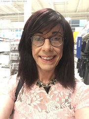 August 2018 (Girly Emily) Tags: crossdresser cd tv tvchix tranny trans transvestite transsexual tgirl tgirls convincing feminine girly cute pretty sexy transgender boytogirl mtf maletofemale xdresser gurl glasses top shopping supermarket tesco