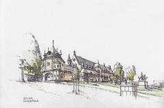 Goslar, Kaiserpfalz (Namtra) Tags: goslar harz kaiserpfalz wiese niedersachsen fineliner aquarell watercolour watercolor urbansketch urbansketchers urbansketching usk