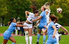 Heads I win! (stephencharlesjames) Tags: womens sport ball sports soccer action middlebury vermont tufts ncaa