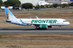 FRONTIER  AIRLINES / Airbus   A 320 NEO   F-WWBY   msn 8380 / LFBO - TLS / oct 2018 (gimbellet) Tags: canon nikon spotting spotter boeing blagnac lfbo planes transport transportation toulouse tls toulouseblagnac a330 airbus aviation a380 a340 a320 airplanes aircraft aeroport atr airport avions a350 aeronautique airplane aeroplane a320neo