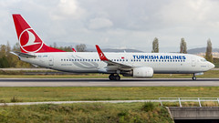 Boeing 737-8F2(WL) TC-JVB Turkish Airlines (William Musculus) Tags: airport spotting basel mulhouse freiburg euroairport eap bsl mlh lfsb tcjvb turkish airlines boeing 7378f2wl tk thy 737800