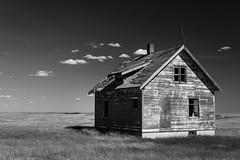 Border Country (TigerPal) Tags: saskatchewan sask prairie plains monochrome farm farmhouse abandoned forgotten ruin ruraldecay backroads exploration isolation lonely loneliness border