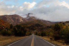 On the road to Fall (NinjaCat1212) Tags: canon daylight light road clouds weather outdoors outside mountains utah landscape fall