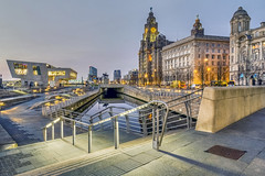 005 Pier Head Liverpool (georgestanden) Tags: colour photo photography photograph art picture photooftheday pierhead liverpool merseyside longexposure evening night building architecture canal leedsandliverpoolcanal liverbuildings water promenade hdr vivid
