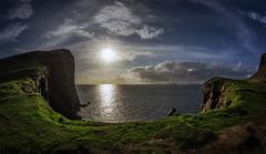 Neist Point 1 (Bilderschreiber) Tags: neistpoint neist point skye scotland schottland sun sonne wideangle weitwinkel fisheye fischauge kliff klippe cliff sea meer