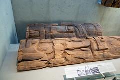 Fragment of Haida totem pole (quinet) Tags: 2017 aborigène britishcolumbia canada firstnations kunst museumofanthropology ubc ureinwohner vancouver westcoast aboriginal art indian museum musée native northwest