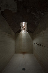 There's a War Inside My Head (pmkelly) Tags: 31daysofhalloween abandoned easternstatepenitentiary halloween haunted isolation loneliness philadelphia prison shower