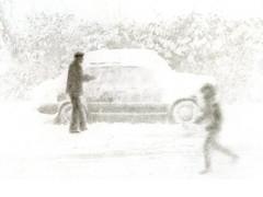 snow storm in Sochi (c.1982) (Alexander Tkachev) Tags: alternativephotography bromoil blackwhite snowstorm sochi