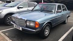 230 E (Sam Tait) Tags: me buy lord lawd oh icon iconic sedan saloon 123 w123 w merc mercedes benz 230 e auto automatic 23 petrol 1985 blue retro rare classic german