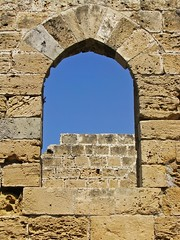 Window Arch in Kyrenia Castle (RobertLx) Tags: arch stone medieval castle window ancient architecture building kyrenia girne cyprus island mediterranean europe city ruins gothic northerncyprus κύπροσ explore