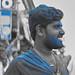 2018 Puttaparthi, India, blue Beard