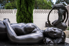 Eyes That Only Cry (dayman1776) Tags: beautiful sculpture statue sculptor sculptures skulptur escultura woman girl female nude classical figurative art museum brookgreen gardens outdoors lying down back bronze breasts sleeping sleep south carolina