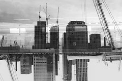 (Darryl Scot-Walker) Tags: london building river thames multipleexposure cokin cokinfilters fujifilm x100t skyscraper architecture bw monochrome blackandwhite street city urban