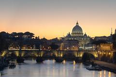 Vatican (fredpellerin18) Tags: italie rome vatican église church bridge pont stange sanangelo architecture town ville sunset coucherdesoleil fleuve tibre ciel sky