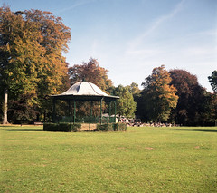 Saturday Bandstand - again (DH73.) Tags: abington park northampton agifold agi agilux 6x6 75mm lens bandstand cafe autumn fuji pro400h