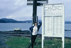 Roadway to Minister Island (Now called Ministers Island), New Brunswick (Joseph Hollick) Tags: newbrunswick 35mmfilm 35mm tide hightide