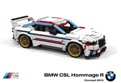 BMW CSL Hommage R Concept (2015) (lego911) Tags: bmw csl hommage r concept 2015 2010s racer m coupe turbo auto car moc model miniland lego lego911 ldd render cad povray german germany stripes instagram 500 500th follower lunuts whataconcept what challenge 16 16th birthday 11th 11 anniversary foistop