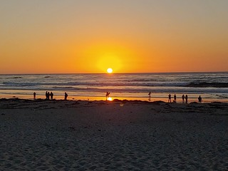 Sunset in Monterey over the Pacific Ocean