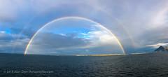 Arctic Rainbow #3 (Amazing Sky Photography) Tags: doublerainbow hurtigruten norway people rainbow trollfjord apple arctic deck iphone sea ship