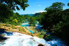 MircK - Cascadas de agua azul (imNOTaPh) Tags: aguaazul cascadas waterfall mirck travelphotography mexico chiapas nikon watercolor