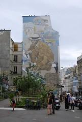 Quartier de Belleville - Place Fréhel (T.Oscar) Tags: tag street art urban graffiti peinture graff paris france french paint hip hop belleville 19ème xixème 19 xix fréhel frehel place platz rue dénoyez denoyez