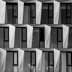 facade (morbs06) Tags: stuttgart abstract architecture building bw city facade light lines repetition square stripes windows