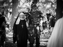 The Nun and the Knight (Greg Jarman) Tags: omd em1 micro four thirds michigan rennaissance festival ren fest 75mm 13 c mount navitron cctv lens adapted