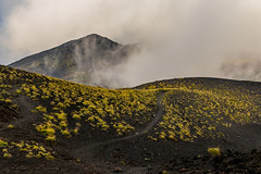 etna pathway (karwinho) Tags: etna volcano sicily sicilia italy italia volcanic nature martian landscape sulfur lava magma crater catania clouds vapor mist ground earth mountain hill slag