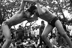 Wrestling (irrfanazam) Tags: powerful power kushti flickrtravelaward blackandwhite wrestlingmatch delhi india wrestling