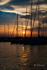Sunset in Siracusa-Ortigia (Ali Yamaner) Tags: sunset italy sicily sici siracusa ortigia outdoor sea yachts sky