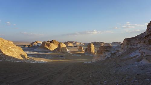 The Valley of Agabat, the White Desert, Egypt.