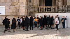Students (and a lone musician) (Poul_Werner) Tags: porto portugal vitusrejser 53mm ferie rejse travel pt