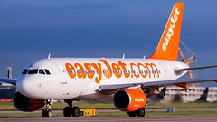 Easyjet A319 (ianclarke82) Tags: gezbc a319 airbusa319 airbus aircraft airport airline airfield aviation aviationphotography airliners avgeek canonaviation canon80d canonphotography easyjet egcc manchesterairport greatermanchester manchester wings autumn runway