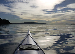 Peaceful (Päivi ♪♫) Tags: norway oslo oslofjord kayak paddling october sea calm blue clouds